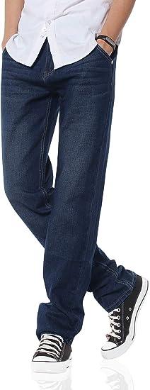 Demon&Hunter 806 Straight Series Hombre Pantalones Vaqueros Recto Jeans