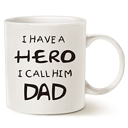 Christmas Gifts For Dad.Mauag Fathers Day Christmas Gifts For Dad Coffee Mug I Have A Hero I Call Him Dad Funny Best Father S Day And Birthday Gifts For Dad Father Cup