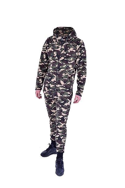 Kids Boys Girls Tracksuit Camouflage Side Panelled Hooded Top Bottom Joggingsuit