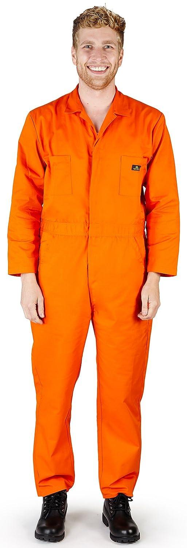 自然ワークウェアメンズ長袖基本Blended Work Coverall Includes Big & Tall Orderサイズ – 1サイズ大きめ オレンジ Large Tall Large Tallオレンジ B01EM5ZEOU