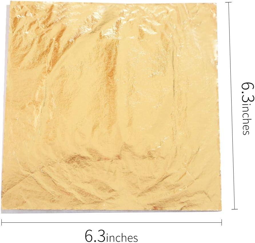M/öbel Dekoration 13x13.5 cm Champagner Gold Champagner Silber KINNO 200 Imitation Blattgold Blattsilber Set zum Basteln Schlagmetall Kunstprojekt