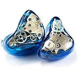 ギア-ハイブリッド カナル イヤホン高音質 ダイナミックドライバー1基&バランスド・アーマチュアドライバー3基 ドライバ-4基 搭載 MMCX リケーブル 可能イヤホンWTSUN Audio (ギア:ブルー)