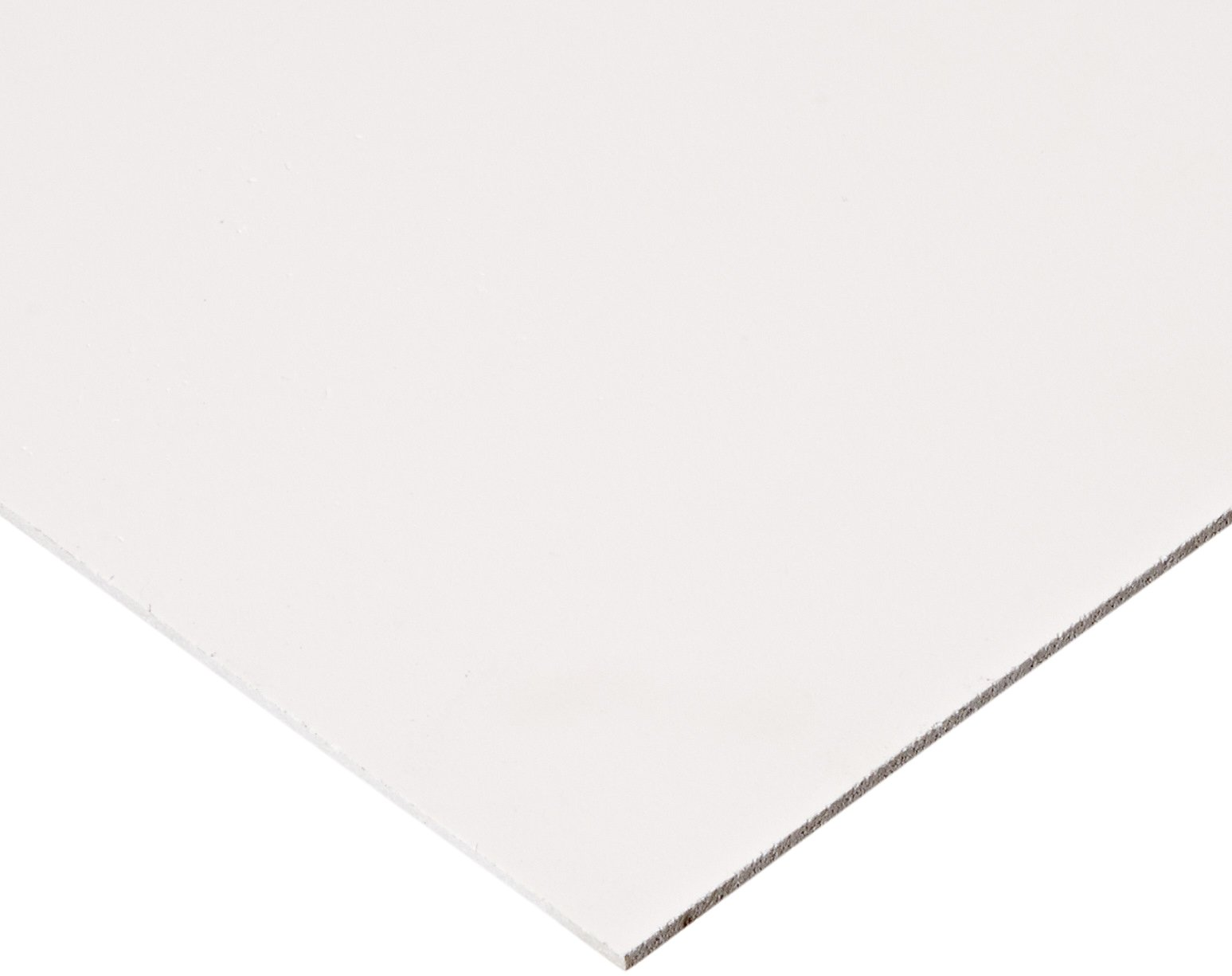 """Celtec Expanded PVC Sheet, Satin Smooth Finish, 2mm Thick, 12"""" Length x 12"""" Width, White"""