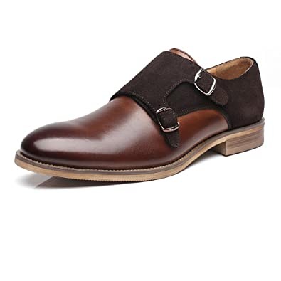 Amazon Com La Milano Mens Leather Double Monk Strap Loafer