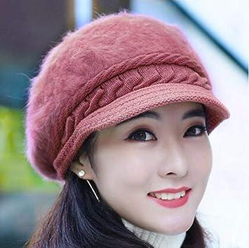 907f50c30affc Keoa Sombrero De Invierno para Mujer Orejeras Calientes Sombrero De Piel De  Conejo De Imitación Grueso