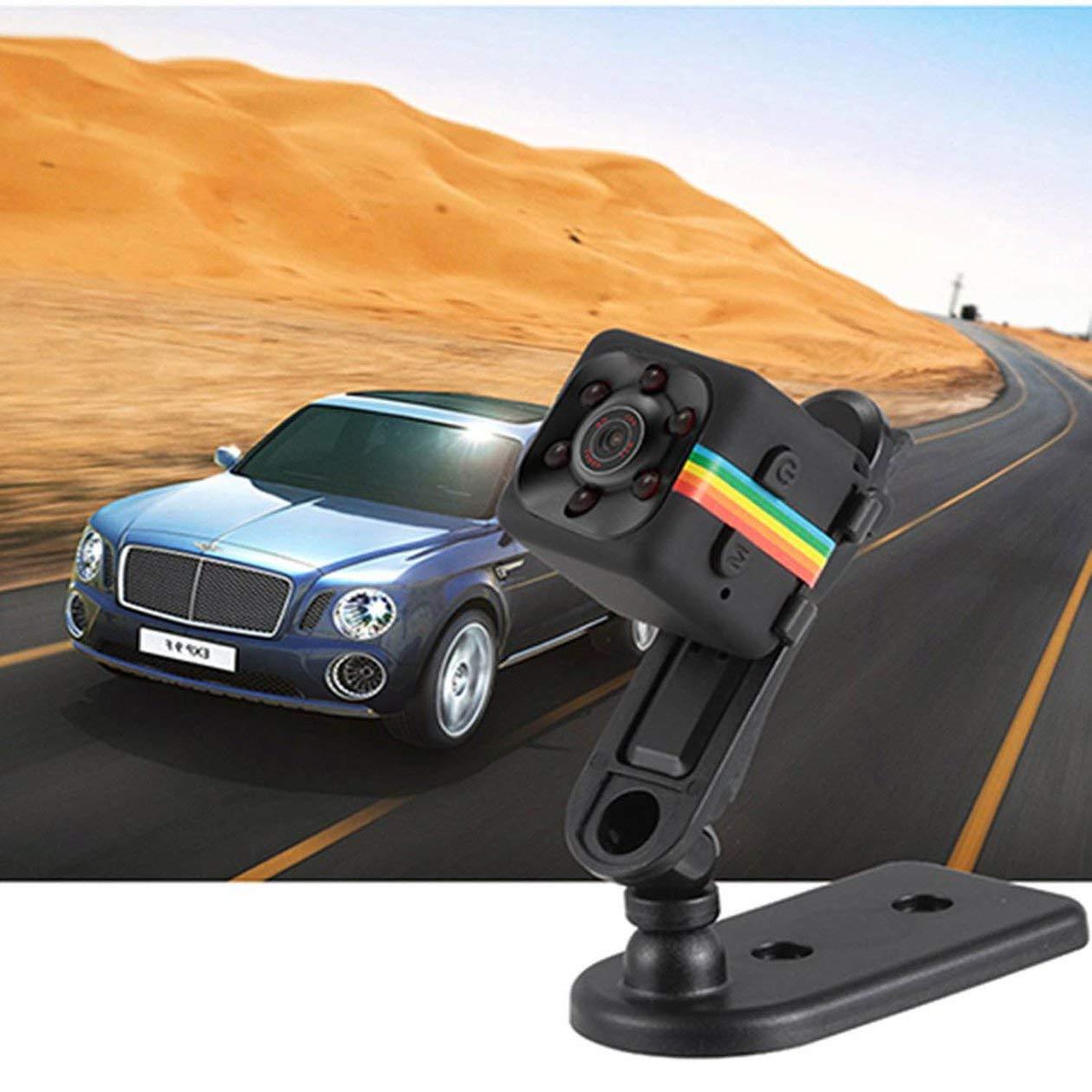 BIYI SQ11 Coche Mini DVR C/ámara HD Videoc/ámara CMOS 1080P Grabador de Video de visi/ón Nocturna C/ámara Deportiva Impermeable al Aire Libre Negro