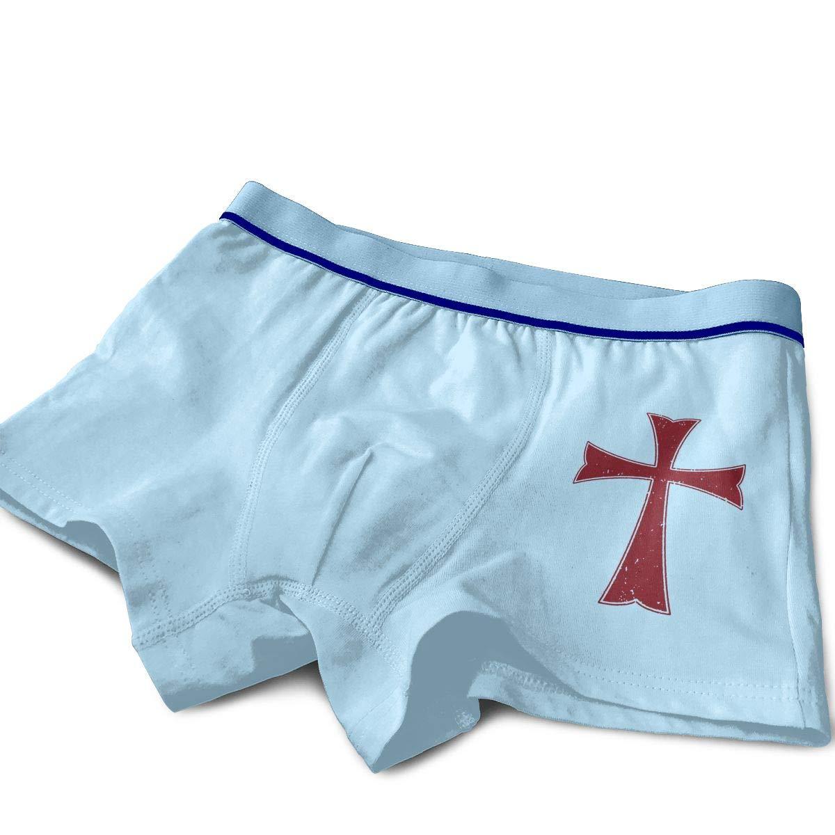 Knights Templar Crusader Cross Teenage Cotton Boxer Briefs Underwear