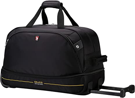 OIWAS Sac de Voyage à roulettes Trolley Bagage à Main Valise à roulettes Bagage de Cabine pour Femme Homme,45L à 55L Noir
