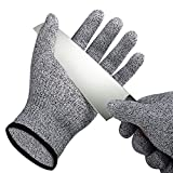 Cut Resistant Gloves,SMYTShop Food Grade Level 5 Protection,Kitchen Working for Cutting, Slicing and Wood Carving 1 Pair (Extra Small, Black)