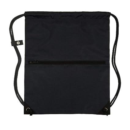 7d4947d5cdea Men & Women Outdoor Sport Gym Sack Waterproof Drawstring Backpack Bag(Black)