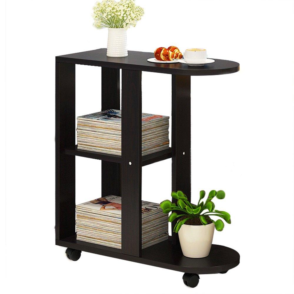 ナイトテーブル ソファー小さなコーヒーテーブルリムーバブルベッドサイドテーブルリビングルームソファサイドキャビネットサイドテーブル (色 : G-Black walnut) B07FBFN5HS G-Black walnut G-Black walnut