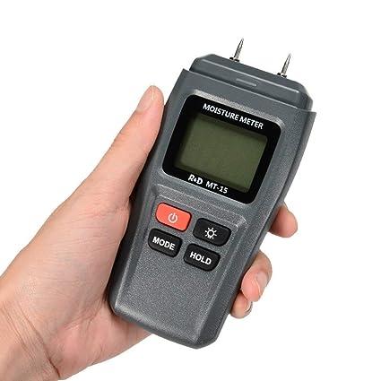 Medidores Humedad LCD digital Madera Medidor de humedad trager Bar leña Madera Detector de humedad con ...