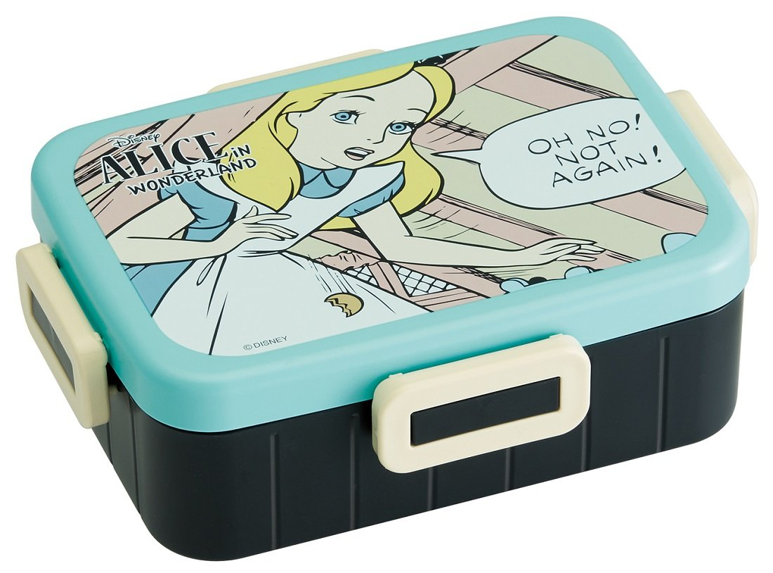 Officially-Licensed Alice in Wonderland Lunch Box (Bento Box) with note: ''Oh No! Not Again!''