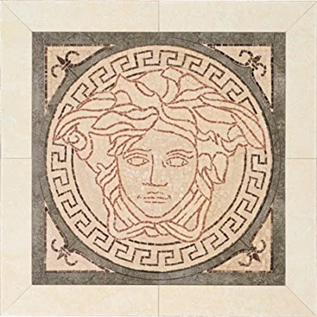 e16d759efaff Versace Home Floor Wall Tiles Large Medusa in Pink grey Focus Piece 41cm  16