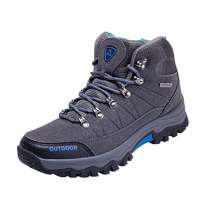 LANSKRLSP Scarpe da Escursionismo Alta Uomo Scarpe da Trekking per  All aperto Sportive 570bae3d894