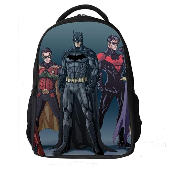 Mochilas Infantiles Mochila Escolar Para Niños De 6-11 Años Para Niños Pequeños,Batman-42 * 29 * 18cm: Amazon.es: Ropa y accesorios