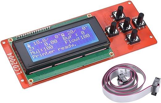 Kit de impresora 3D de promoci/ón Reprap Smart 3D Printer Parts Controlador Pantalla Reprap Rampas 1.4 2004 LCD LCD 2004 Control
