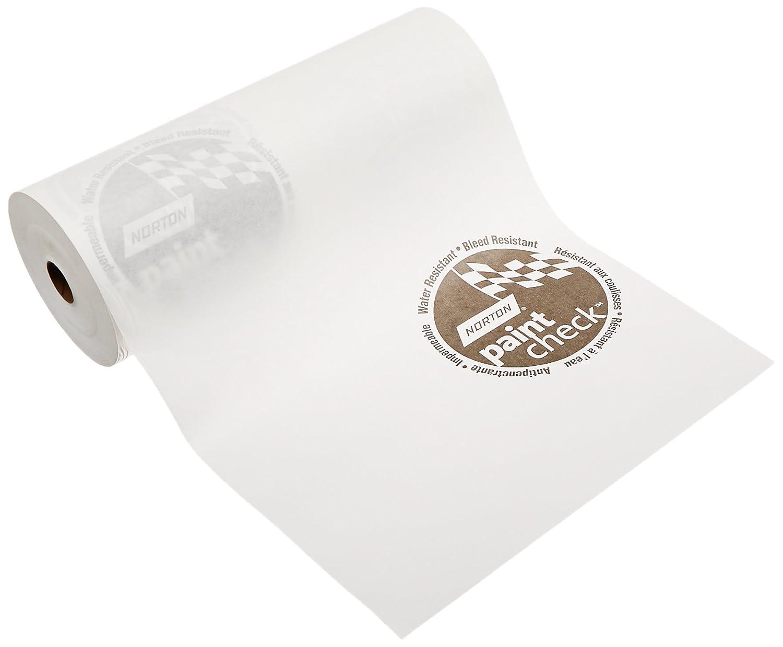 Norton 636425-00403 White 12' x 750' Polycoated Masking Paper