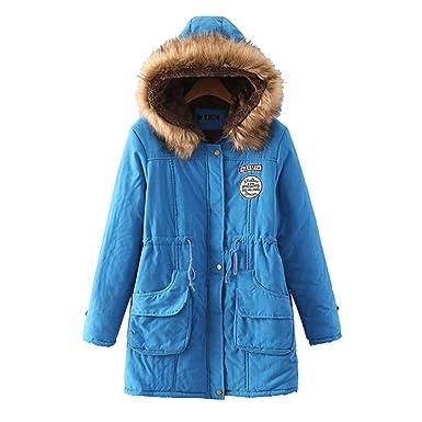 Bestfort Warm Mantel Damen Wolle Jacke Wintermantel Mit Kapuze Für