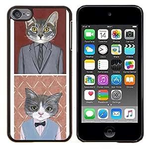 - business cat funny cute pop art suit - - Modelo de la piel protectora de la cubierta del caso FOR Apple iPod Touch 6 6th Generation RetroCandy