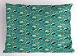 Ambesonne Turtle Pillow Sham, Underwater Wildlife Composition with Wavy Ocean and Colorful Animals with Shells, Decorative Standard King Size Printed Pillowcase, 36 X 20 inches, Multicolor