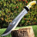 "MOON KNIVES 16"" TACTICAL HUNTING SURVIVAL RAMBO FIXED BLADE MACHETE KNIFE Camping RED Sword"