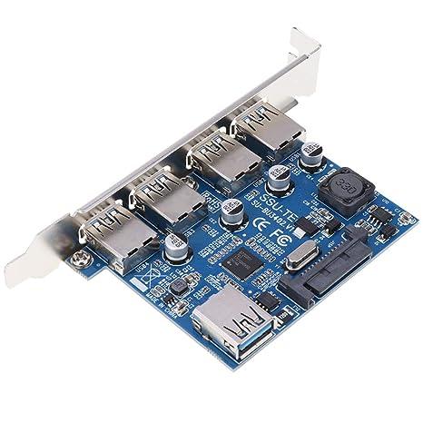 B Baosity Tarjeta PCI-E USB 3.0 Express De 4 Puertos, Adaptador De ...