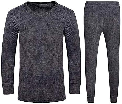 cb3a4ee3ba2 adam & eesa Mens Extra Soft Thermal Long Johns Short Sleeve Long Sleve  Winter Underwear