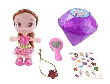 2131aa9c965 Bandai- Precious Girls Poupée à Coiffer 10 cm et Son Bijou-Modèle Aléatoire