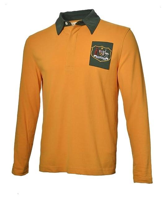Olorun - Camiseta de Rugby del Equipo de Australia Estilo Vintage ...