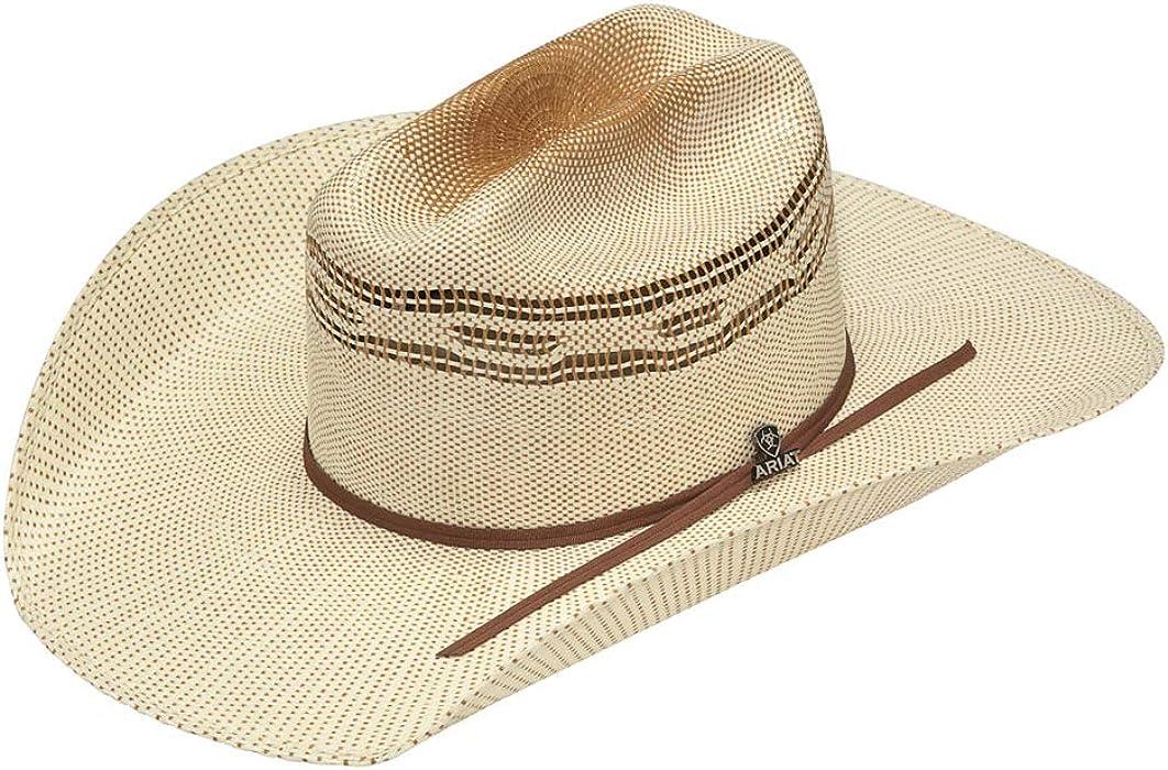 fc76083c01e971 ARIAT Men's Bangora Golden Brown Hatband Hat, Ivory, Tan, 6 3/4 at ...