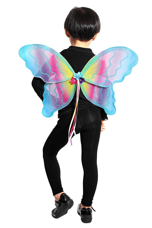Promoción por tiempo limitado Seruna - Disfraz de mariposa elfa infantil, talla única
