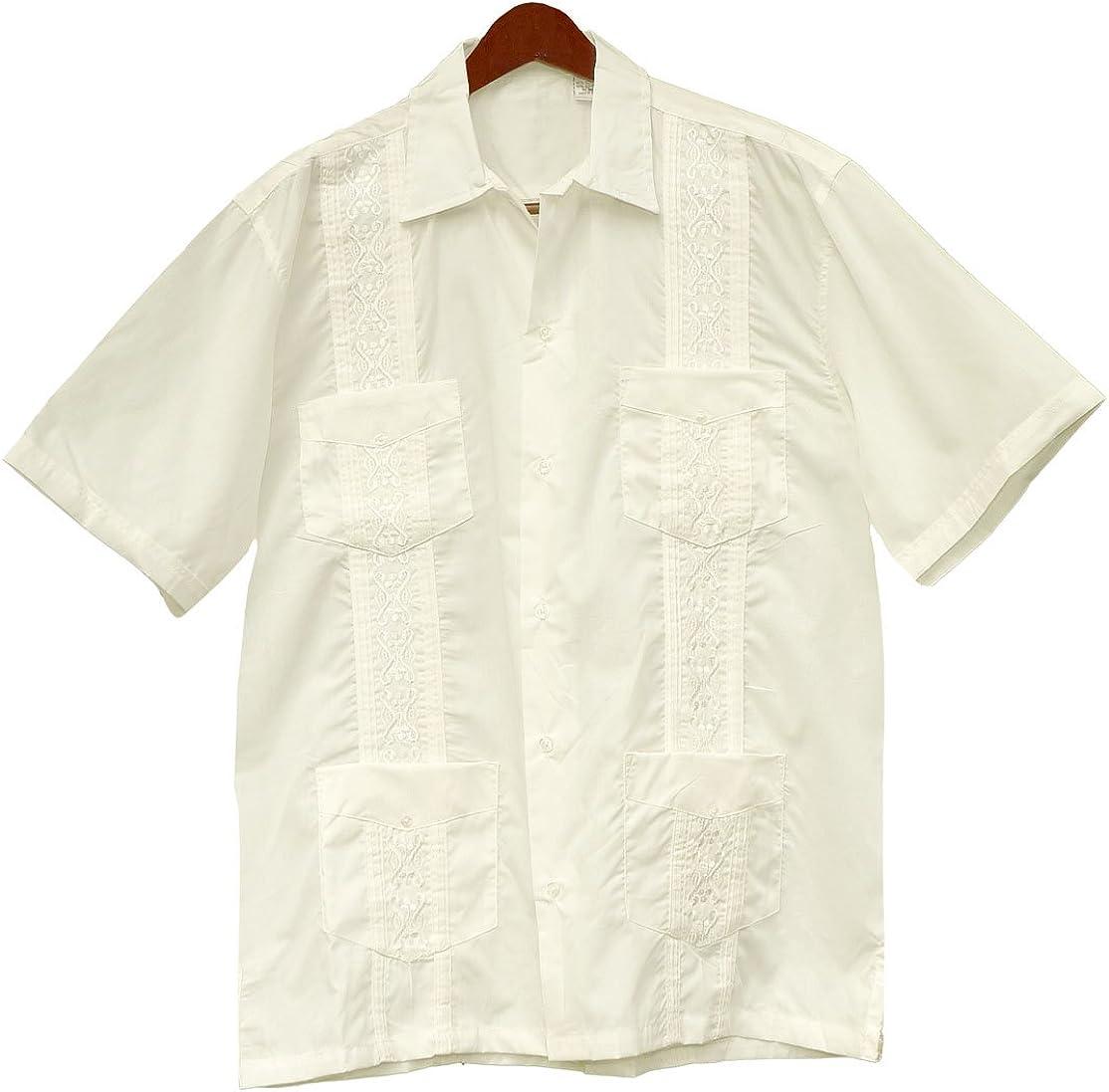 Squish - Camisa de estilo cubano Guayabera, color crema - Marfíl - Large: Amazon.es: Ropa y accesorios