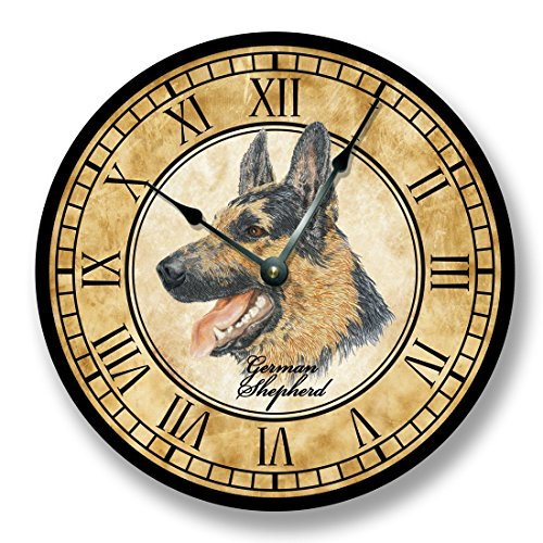 German Shepherd dog Wall Clock antique decor