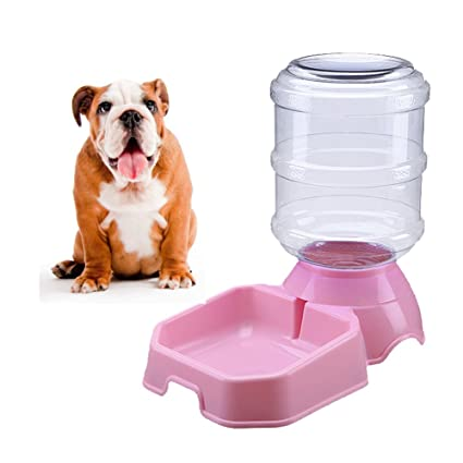 Septree Cat Water Dispenser Pink,Dog Water Bowl,Pet Water Foundation,Automatic Cat