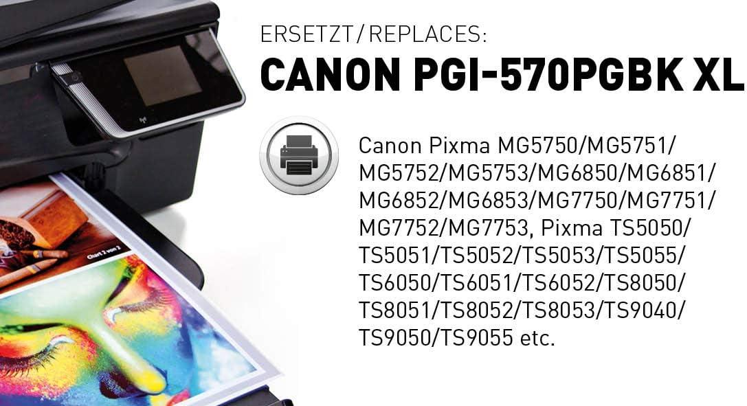 Kmp Tintenkartusche Für Canon Pixma Mg 5700 Mg 6800 Mg 7700 Ts 5000 Series Ts 6000 Series Ts 8000 Series Ts 9000 Series C107bpix Black Pigmented Bürobedarf Schreibwaren