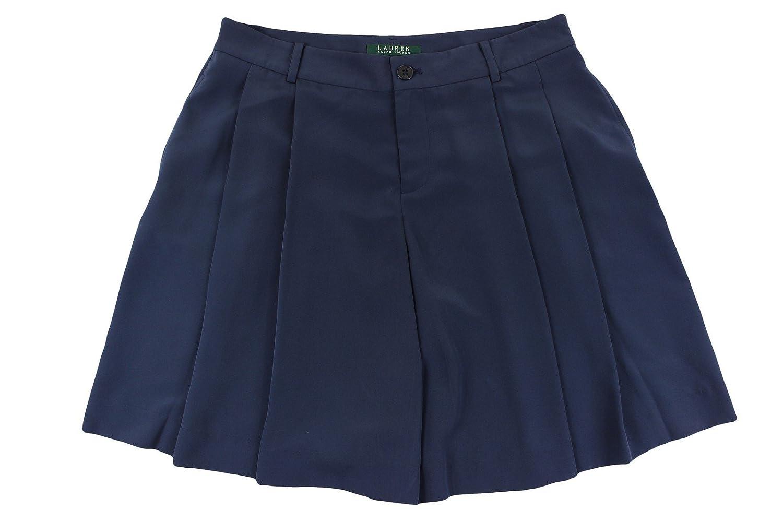 7c69a13d7b5378 Lauren Ralph Lauren Womens Pleated Solid Dress Shorts outlet ...