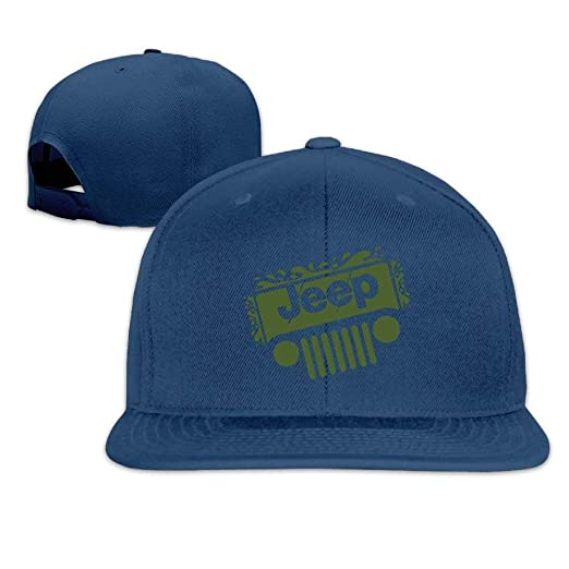 b6e0bd8928c Image Unavailable. Image not available for. Color  Jeep Snapback Unisex  Adjustable Flat Bill Visor Dad Hat