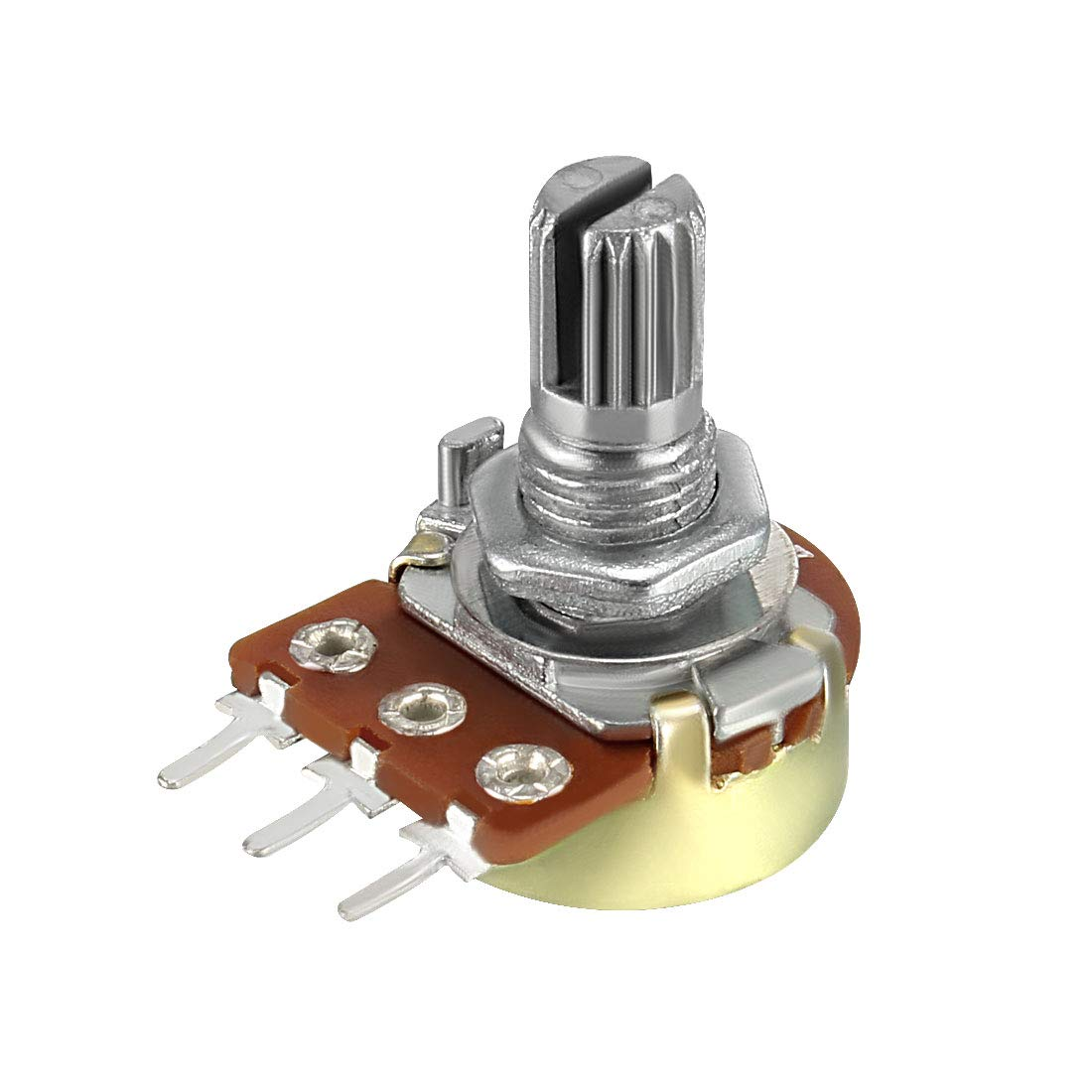 sourcing map WH148 1K Ohm Variable Resistors Single Turn Rotary Carbon Film Taper Potentiometer 1pcs