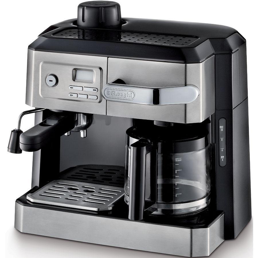 delonghi bco330t combination steam espresso and 10c drip. Black Bedroom Furniture Sets. Home Design Ideas