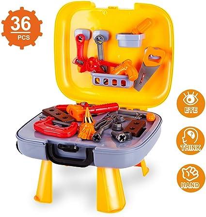 Battat Durable Kids Tool Set Battat Busy Builder Tool Box 20-Pcs Pretend Play Construction Tool Kit for Kids 3 Years+