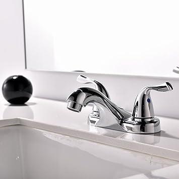 Commercial Chrome 2 Handle Lavatory Bathroom Faucet, Vanity Vessel ...