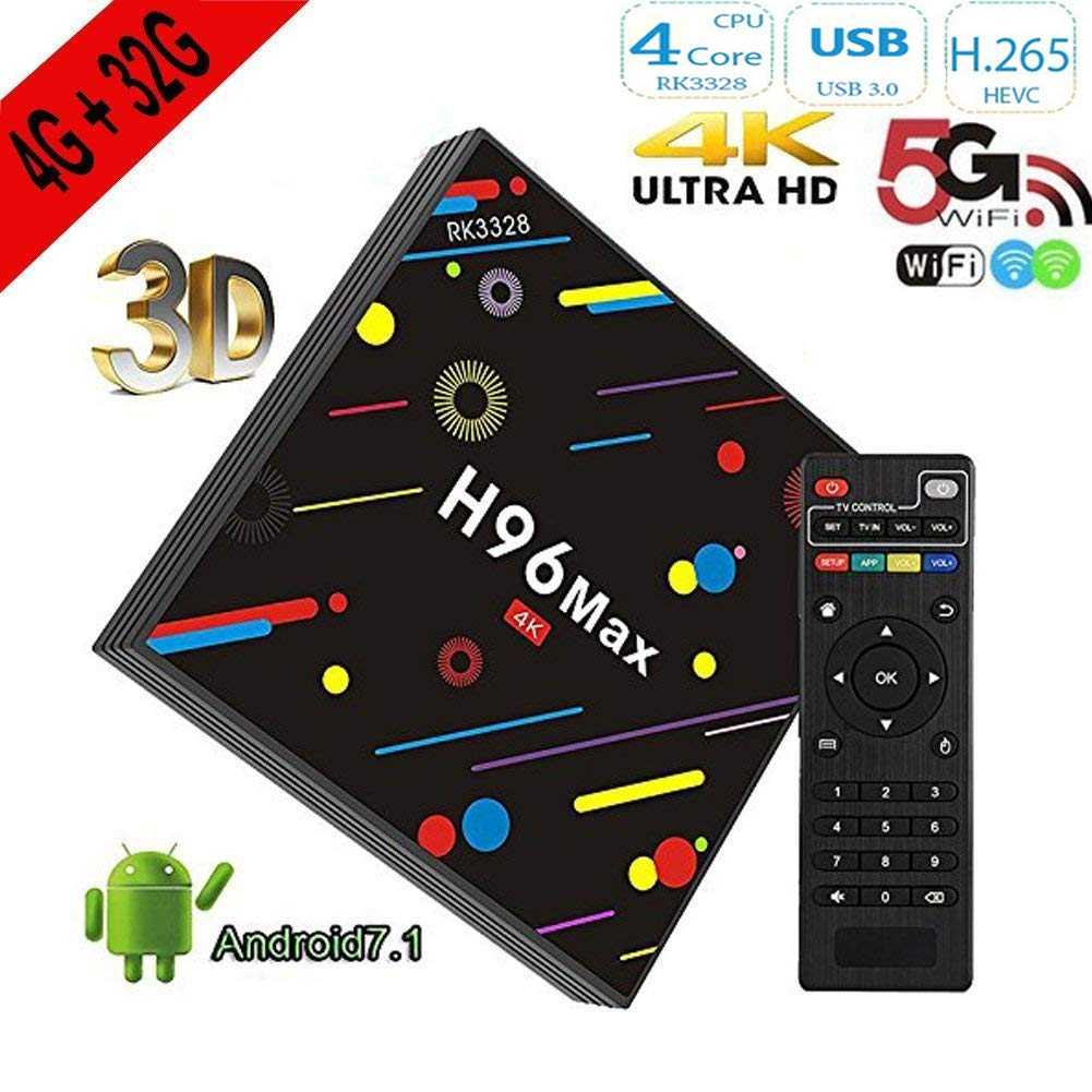 H96 Max Android 7.1 TV Box RK3328 4 K Ultra HD Smart TV de ...