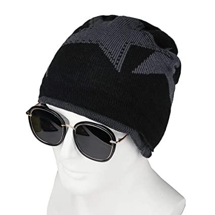 Image Unavailable. Image not available for. Color  Haluoo Daily Beanie Hat  for Men and Women Winter Warm Hats Knit Slouchy Thick Skull Cap d36c769e2e86