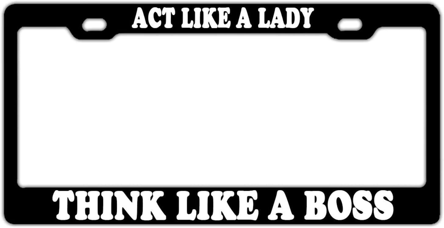 Evelynmat Womens Funny Custom Metal Label holders Aluminum License Plate Frame