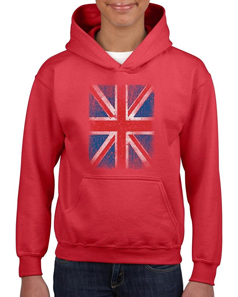 Xekia Union Jack British Flag Kingdom Unisex Hoodie For Girls and Boys Youth Kids