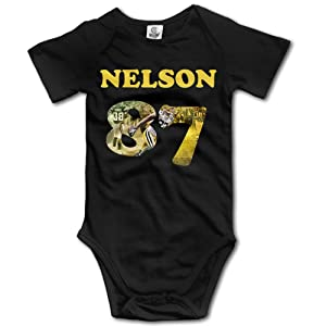 DHome Jordy Of Nelson Short-sleeve Infant Jumpsuit Bodysuit Outfits Clothes Black 24 Months