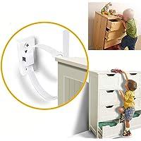 Afufu Meubelanker, 12 sets kantelbeveiliging, multifunctionele meubelgordel, meubelanker, voor peuters, kinderveiligheid…