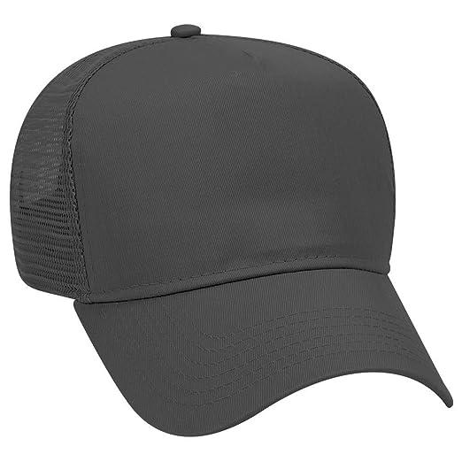 883dd6e2 OTTO Cotton Blend Twill 5 Panel Pro Style Mesh Back Trucker Hat - Black