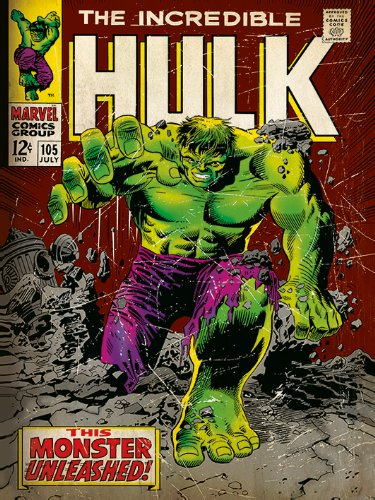 Marvel Comics Incredible 30 x 40cm Framed Poster Print comic Cover Hulk